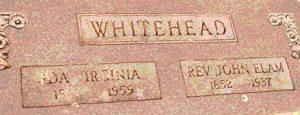 John_Elam_Whitehead_Grave