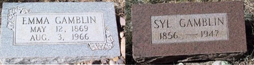 Tombstone Tuesday:  Sylvester (Syl) and Emma Gambllin – Alma, New Mexico