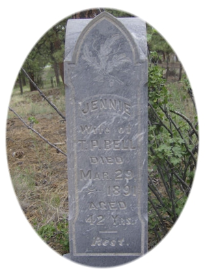 Tombstone Tuesday:  America Virginia Palmer Bell (Lake City, Colorado)