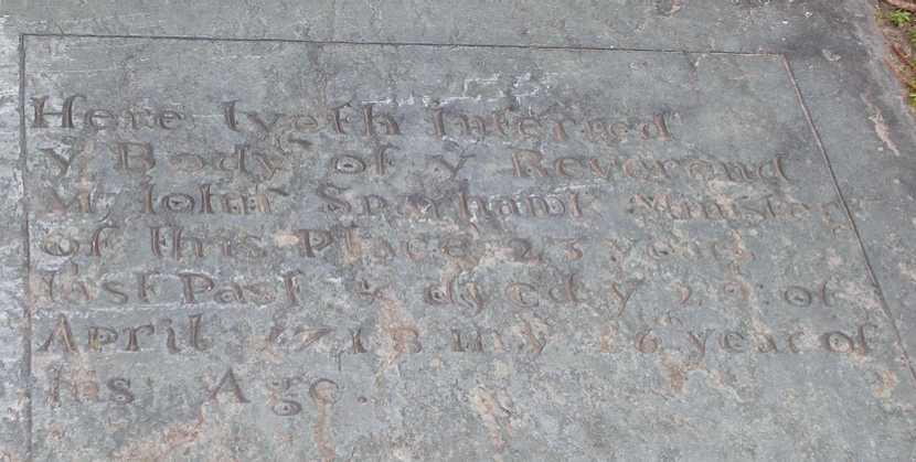 Tombstone Tuesday:  Reverend John Sparhawk – Bristol, Rhode Island
