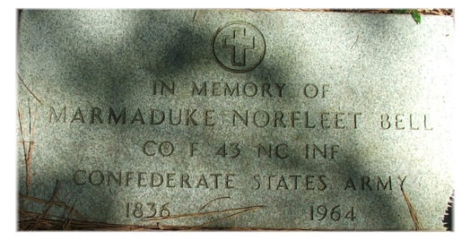 Tombstone Tuesday:  Marmaduke Norfleet Bell