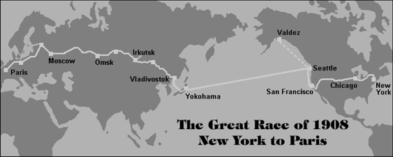 Motoring History:  The Great Race of 1908 – New York to Paris (via Alaska and Siberia)