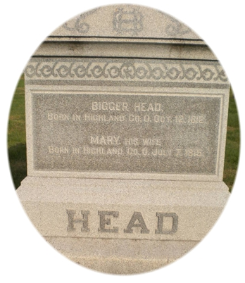 Tombstone Tuesday:  Bigger Head (1812-1912)