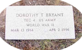 Tombstone Tuesday:  Dorothy Trimmer Bryant