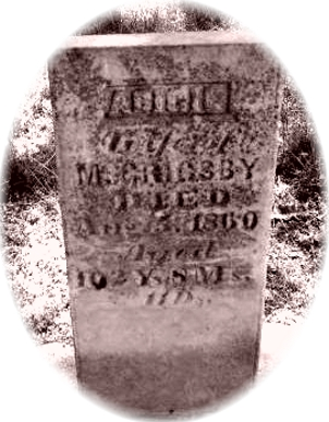 Tombstone Tuesday:  Abigail Fritter Grigsby (and the case for proving her actual age)